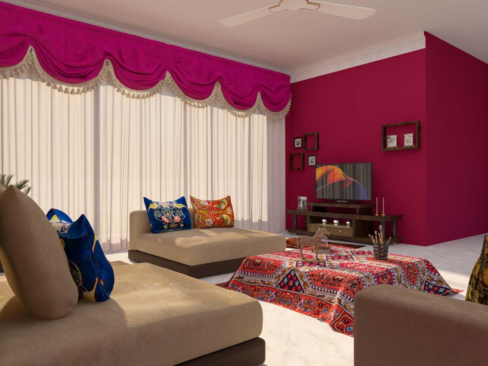 Rajasthani Style Living Room